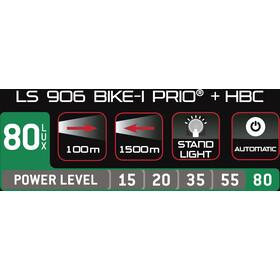 Trelock LS 906 BIKE-i Prio Cykellygter med HBC, black/black